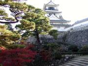 高知城 - 二ノ丸階段より天守