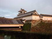 高知城 - 夕日に染まる城