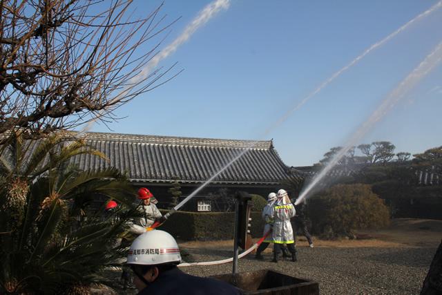 高知城-消防訓練1