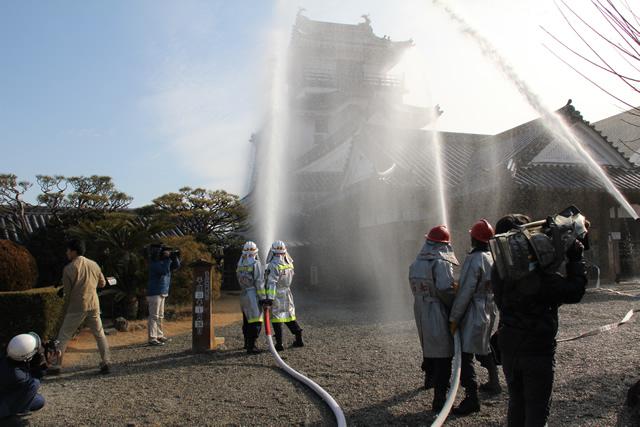 高知城-消防訓練2