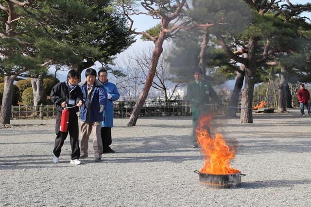 高知城-消防訓練3