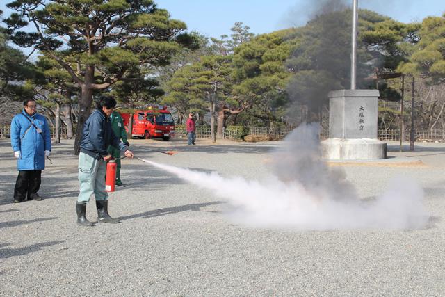 高知城-消防訓練4