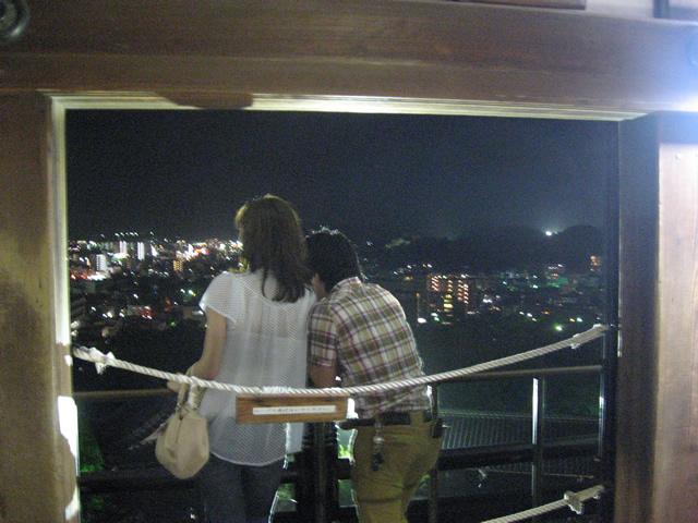 高知城からの夜景