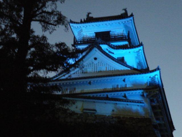 高知城ライトアップ(ブルーライトキャンペーン)
