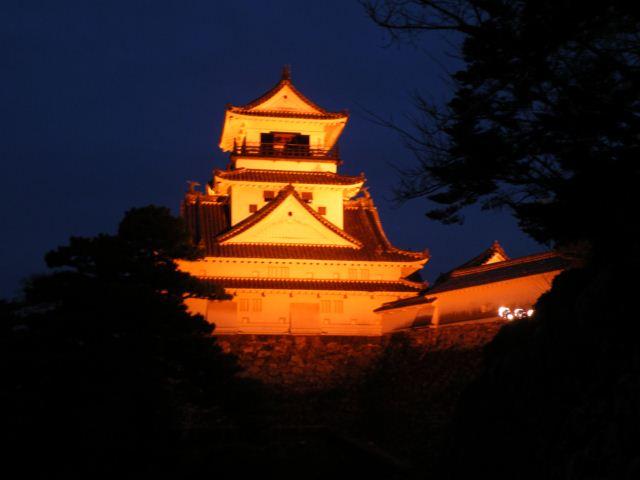 高知城ライトアップ(オレンジリボン運動)