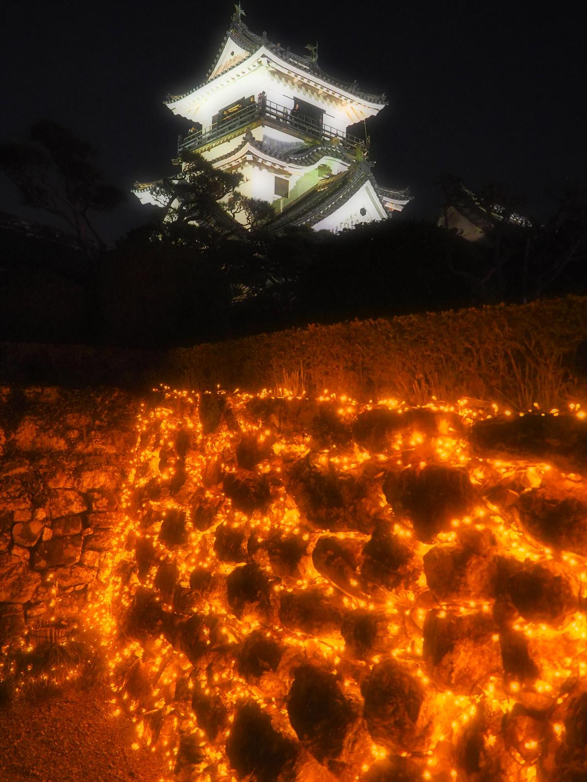 冬の夜のお城まつり 本丸