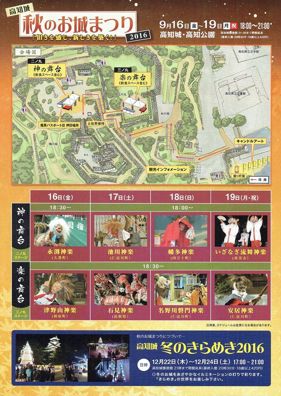 高知城秋のお城まつり